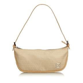 Fendi Baguette Brown Cloth Handbag