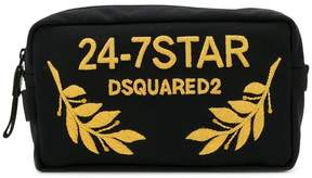 DSQUARED2 24-7 embroidered wash bag