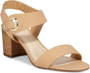 Bar III Birdie City Two-Piece Block-Heel Sandals, Created for Macy's Women's Shoes