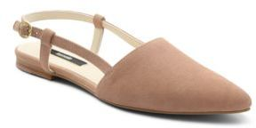 Kensie Cary Point-Toe Suede Flats