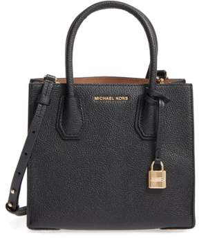MICHAEL Michael Kors Mercer Leather Crossbody Bag - Black