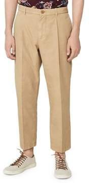 MANGO Pleated Cropped Chino Pants