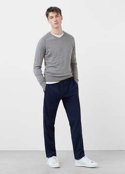 Mango Outlet Cotton cashmere-blend sweater