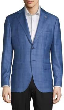 Lubiam Men's Plaid Wool Sportcoat
