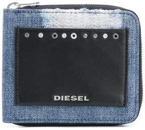 Diesel front logo patched wallet
