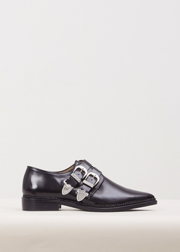 Toga Black Polido Buckle Oxford