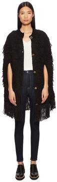 Sonia Rykiel Cotton Fur Knit Cape Women's Clothing