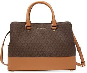 Michael Kors large Savannah Satchel- Brown - ONE COLOR - STYLE
