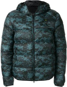 Blauer pixel print padded jacket