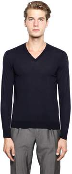 Drumohr Extra Fine Merino Wool V-Neck Sweater