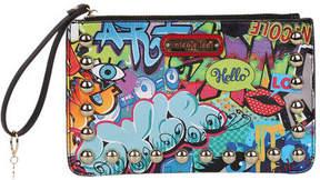 Nicole Lee Women's Street Style Graffiti Print Wristlet