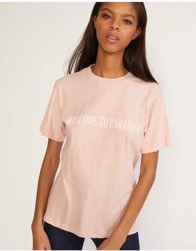 Cynthia Rowley | Welcome To Paradise Tee | Xl | Neutral