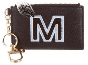 Tory Burch Leather 'M' Key Pouch - BLACK - STYLE