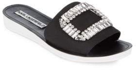 Karl Lagerfeld Paris Mirah Embellished Slip-On Sandals
