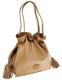 Oryany As Is Pebble Leather Drawstring Crossbody Bag - Jamie