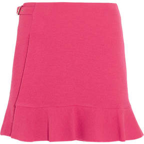 Moschino Buckled Crepe Mini Skirt - Fuchsia