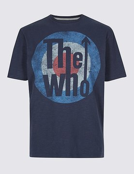 Marks and Spencer Pure Cotton Printed The Who T-Shirt