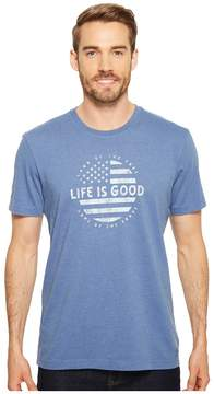 Life is Good Classic Circle Flag Crusher Tee Men's T Shirt