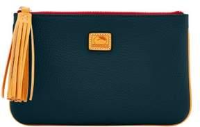 Dooney & Bourke Patterson Leather Carrington Pouch - BLACK - STYLE