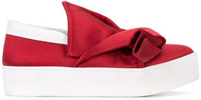 No.21 bow detail slip-on sneakers