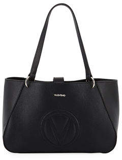 Mario Valentino Valentino By Charlotte Dollaro Leather Shoulder Tote Bag