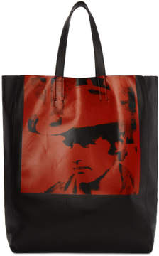 Calvin Klein Black and Red Dennis Hopper Tote