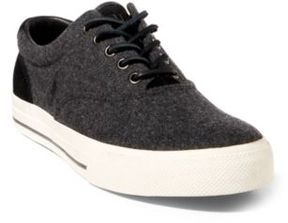 Ralph Lauren Vaughn Flannel Low-Top Sneaker Charcoal 10