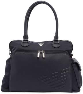 Armani Junior Nylon & Faux Leather Changing Bag