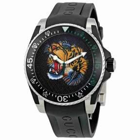 Gucci Dive Tiger Motif Dial Men's Watch YA136318