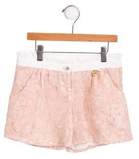 Miss Blumarine Girls' Pleated Mini Shorts