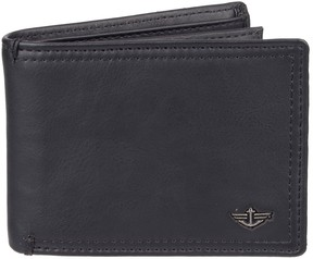 Dockers Men's RFID-Blocking Extra Capacity Leather Slimfold Wallet