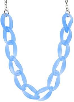 Aqua Lucite Chain Necklace, 21 - 100% Exclusive