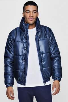 boohoo Funnel Neck Padded Puffer Jacket