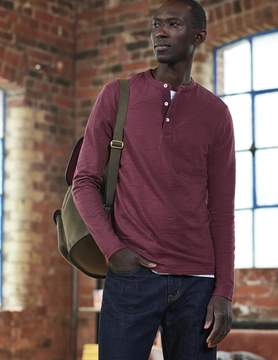 Boden Long Sleeve Slub Henley