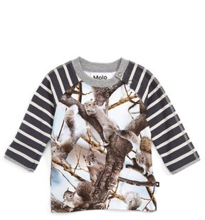 Molo Infant Boy's Elton Mixed Print Raglan Sleeve T-Shirt