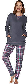 Cuddl Duds Stretch Fleece Novelty Pajama Set