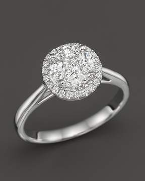 Bloomingdale's Diamond Cluster Halo Ring in 14K White Gold, .45 ct. t.w. - 100% Exclusive