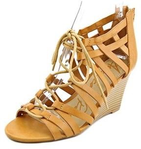 American Rag Kyle Women Open Toe Synthetic Tan Wedge Sandal.