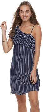 Love, Fire Love Fire Juniors' Striped One-Shoulder Swing Dress