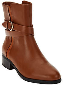 C. Wonder Tumbled Leather Mid-Calf Boots with Buckle - Alexis