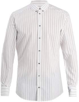 Dolce & Gabbana Striped single-cuff cotton-poplin shirt