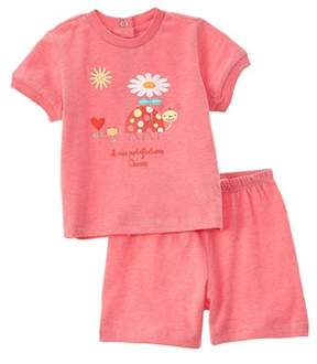 Chicco Girls' 2pc Pink T-shirt & Short Set.