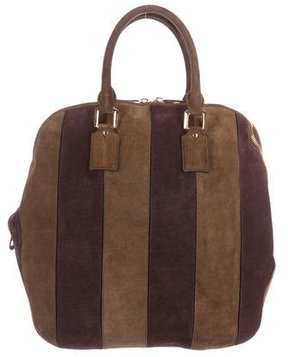 Burberry Suede Orchard Bag - BROWN - STYLE