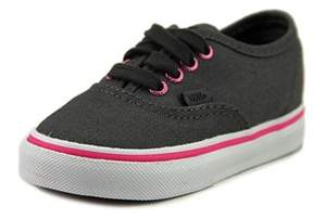 Vans Authentic Toddler Round Toe Canvas Gray Sneakers.