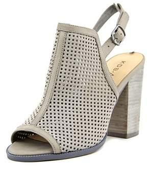 Kelsi Dagger Goyaps Women Peep-toe Synthetic Gray Slingback Heel.