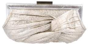 Anya Hindmarch Pleated Leather Clutch