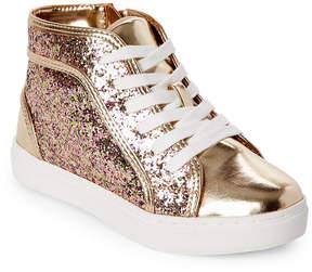Steve Madden Kids Girls) Glitter High Top Sneaker