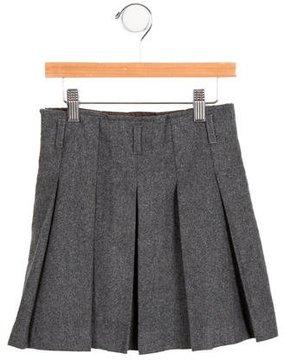 Jacadi Girls' Pleated Wool-Blend Skirt