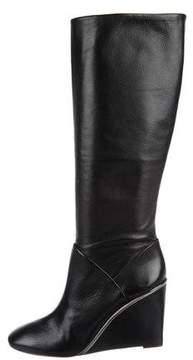 Diane von Furstenberg Leather Wedge Boots