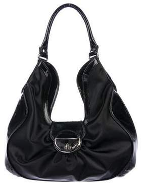 Botkier Patent Leather-Trimmed Hobo